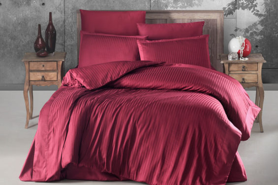 Stripped Satin Bed Linen
